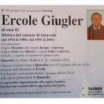 È mancato l'ex Sindaco di Quassolo Ercole Giugler