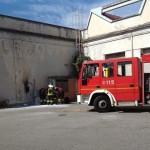 A fuoco una centralina elettrica dell'ex Vallesusa