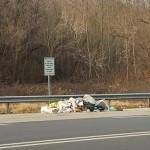 Accatastati i rifiuti delle piazzuole della ex SS 460