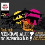 Accendiamo la luce un flash mob davanti alla villa confiscata a Nicola Assisi