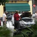 Auto in fiamme a Cuorgnè 2