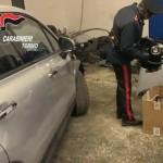 Auto rubate e smontate, scoperto un magazzino a Leinì