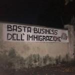 Blitz di CasaPound a Chivasso e Grugliasco contro il business dell'immigrazione