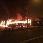 Bruciano sette autobus a Ciriè