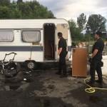 Campo rom di Strada Aeroporto perquisizioni in corso 1