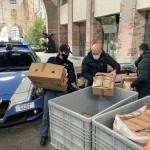 Capi di abbigliamento contraffatti, sequestrati dalla Polizia, donati al Sermig