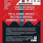 Concerto della Filarmonica Carlo Botta di San Giorgio a favore delle aziende agricole danneggiate dal terremoto