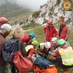 Concluse le operazioni di recupero dello speleologo bloccato in una grotta nell'altipiano del Marguareis