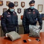 Controlli antidroga dei Carabinieri, due giovani arrestati con 1 kg. di marijuana