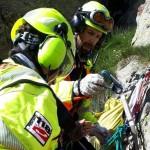 Difficile intervento dell'elisoccorso e del Soccorso Alpino in Valle Gesso