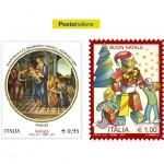 Due francobolli dedicati al Santo Natale