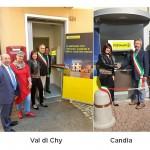 Due nuovi sportelli automatici ATM Postamat a Candia e Val di Chy