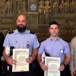 Encomio solenne per gli agenti di polizia municipale Piero Bessone e Matteo Dagnese