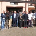 Il Prefetto di Torino in visita alla casa per i profughi a Chivasso