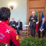 Il Presidente della Repubblica incontra il Soccorso Alpino per i 65 anni del Corpo
