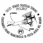 Il  centenario del primo francobollo di posta aerea e del primo volo sperimentale