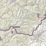 Il percorso della tappa Valloire-Ivrea planimetria