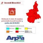 Incendi boschivi stato di massima pericolosità in Piemonte