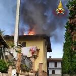 Incendio a Verrua Savoia