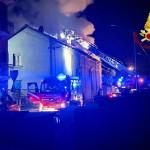 Incendio in una cascina di Villanova Canavese