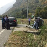 Incidente stradale autonomo a Pont