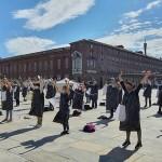 Infermieri del Nursind in piazza a Torino