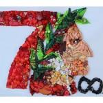 L'artista Lady Be celebra i 700 anni dalla morte di Dante con un eco-mosaico