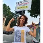 La canavesana Paola Gianotti ha inaugurato a Torino i cartelli di ATTENZIONE AL CICLISTA SULLE STRADE 1
