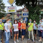 La canavesana Paola Gianotti ha inaugurato a Torino i cartelli di ATTENZIONE AL CICLISTA SULLE STRADE 2