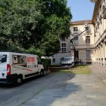 Lavori di restauro della facciata del Liceo Botta di Ivrea