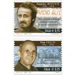Lotta alla mafia due francobolli dedicati a Peppino Impastato e Giuseppe Puglisi