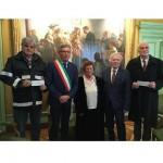 Mostra Birolo consegnati gli assegni alla CRI di Chivasso e di San Sebastiano da Po