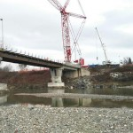 Ponte di Castiglione, proseguono le operazioni di montaggio