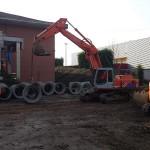 Procedono i lavori al cantiere del polo scolastico di Favria 1