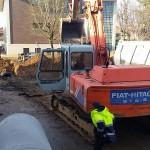Procedono i lavori al cantiere del polo scolastico di Favria 2