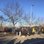 Protesta dei profughi a Moncalieri
