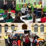 Protezione Civile e Croce Bianca alla Scuola di Valperga 1