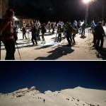 Riuscitissima fiaccolata da Punta Cia (Alpe Cialma)