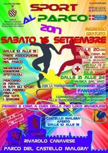 "Sabato 16 settembre torna al Malgrà ""Sport al Parco"" 2"