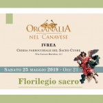 Sabato 25 maggio Organalia 2019 a Ivrea