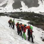 Soccorso uno scialpinista nel Vallone del Carro, a Ceresole Reale