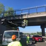 Sp 3 partiti i lavori di messa in sicurezza sullo scavalco dell'autostrada Torino-Ivrea