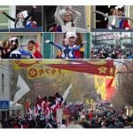 Storico Carnevale di Ivrea seconda uscita degli Abbà
