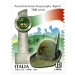 Un francobollo celebrativo dedicato all'Associazione Nazionale Alpini