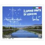 Un francobollo per il nuovo ponte di Genova