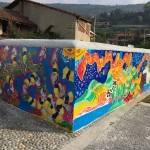 Un murale di Eugenio Pacchioli dedicato alla Costituzione Italiana