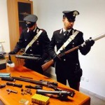 Un vero e proprio arsenale in casa un arresto