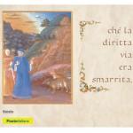 Una cartolina delle Poste per il Dantedì