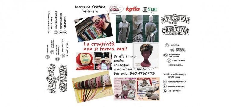 Merceria Cristina a Ivrea, in via Circonvallazione 34