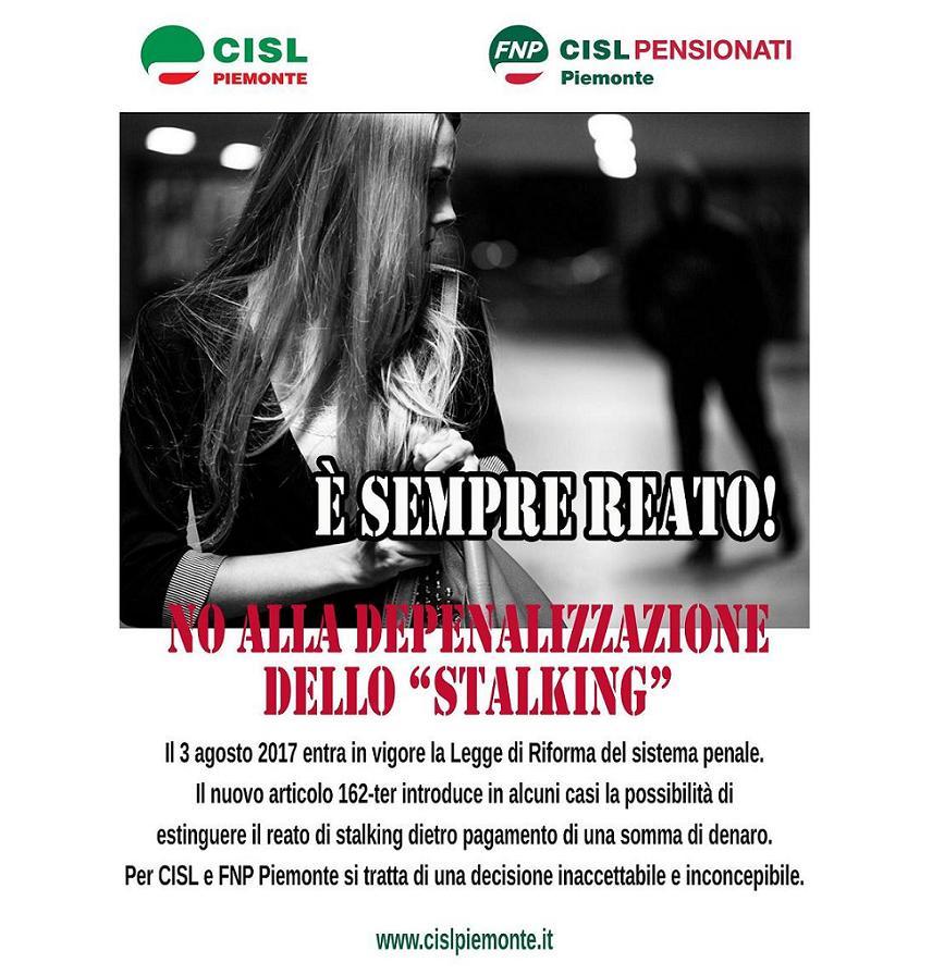 banner no a depenalizzazione stalking